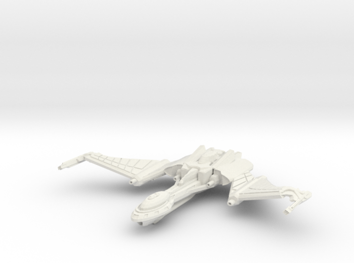 Qu'Hegh Bird Of Pray Class Cruiser -wings Up- 3d printed