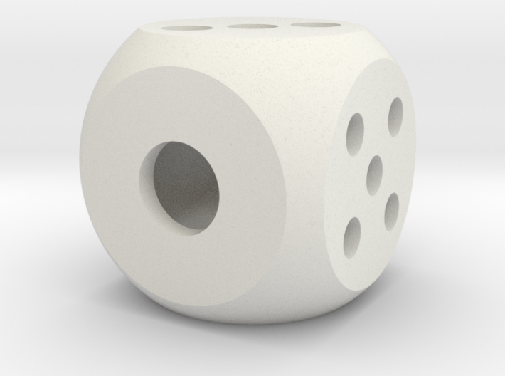 .die segmented interior balanced rounded edges 3d printed