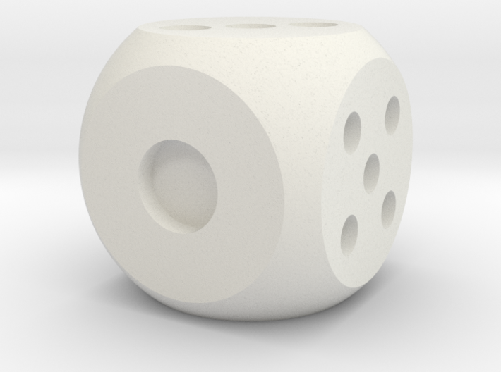 .die solid interior balanced rounded edges 3d printed