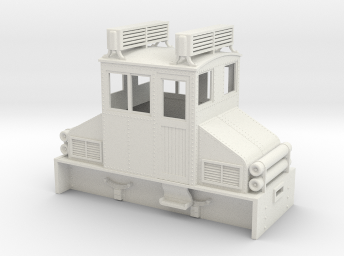 1:32/1:35 steeplecab gas electric loco 3d printed