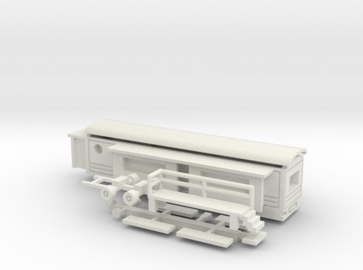 Wohnwagen Tonnendach für 1:160 (n scale) 3d printed