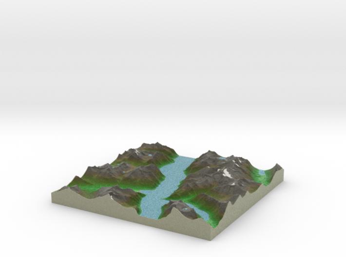 Terrafab generated model Mon Oct 28 2013 14:13:10 3d printed