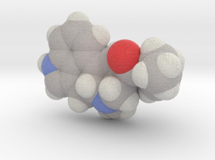 Lsd molecule (x40,000,000, 1A = 4mm) 3d printed