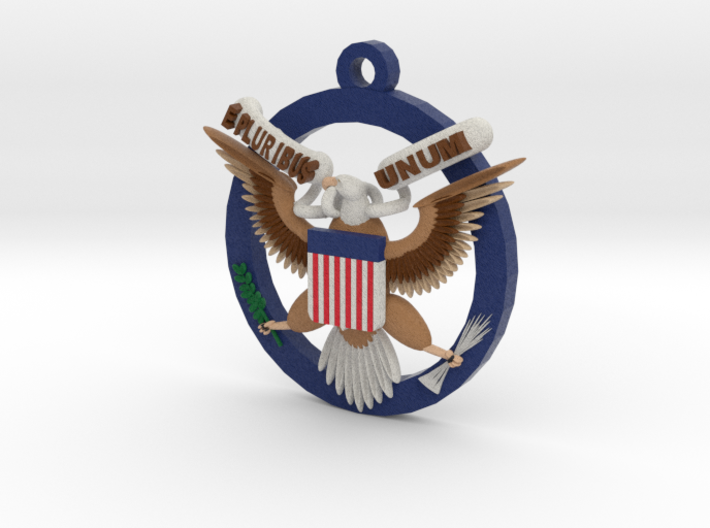 US Great Seal Emblem_Keychain 3d printed