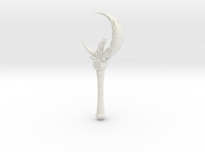 Goth Crescent Wand Knotwork 3d printed
