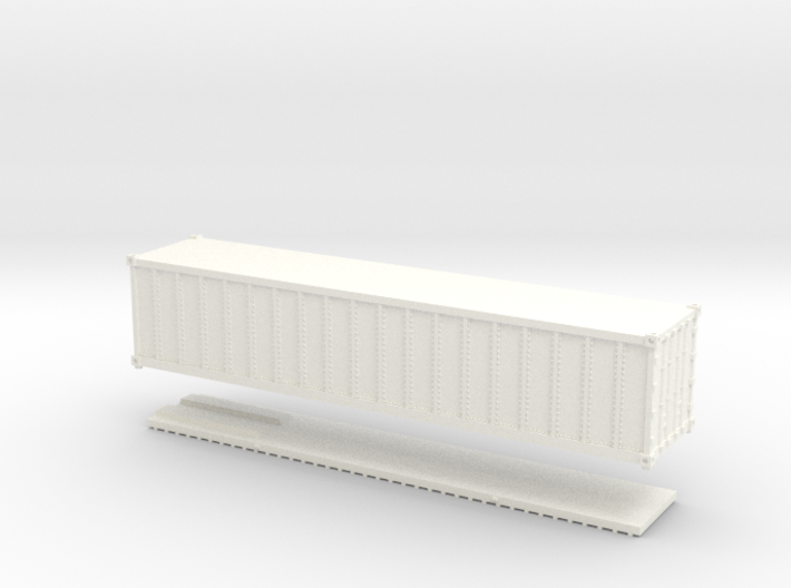 Z Scale 40' Intermodal Container 3d printed