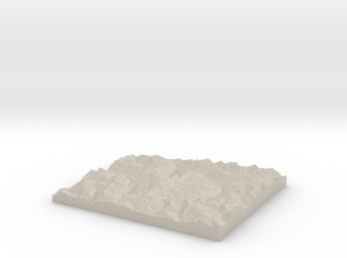 Model of Vista Glacier 3d printed