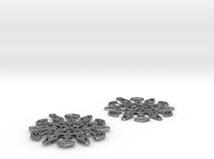 Large Snowflake Earrings 3d printed