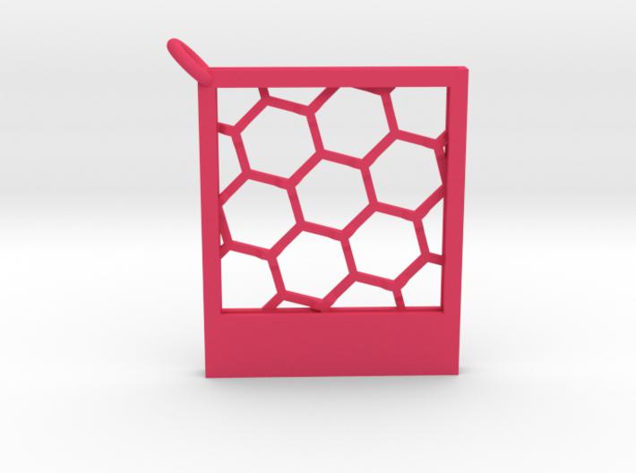 Polaroidesque Pendant / Keyring 3d printed