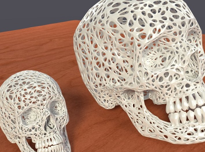 Lace Skull, Half Size 3d printed