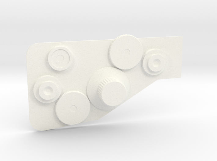 Bowcaster Right Knob Plate 3d printed