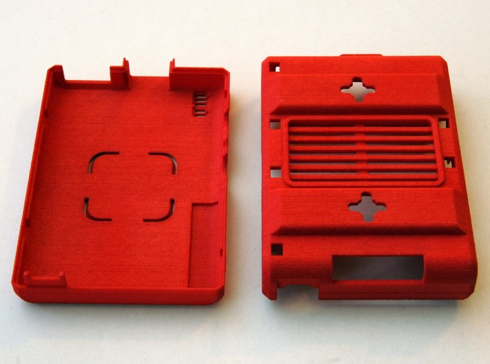 Raspberry Pi CASE 1.0 3d printed Real object printed in Red Strong and Flexible