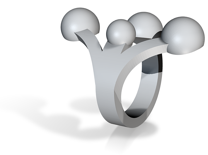WeddingWire ring 3d printed
