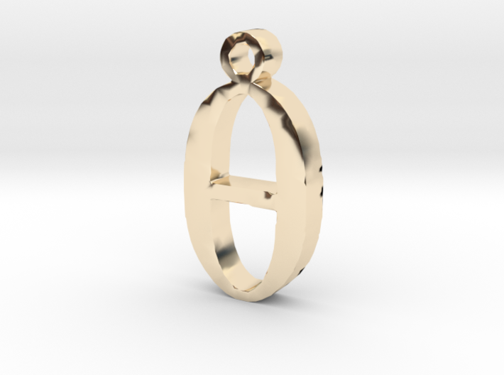 0 Necklace Pendant 3d printed