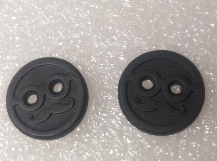Mr Moustache Shirt Button 3d printed