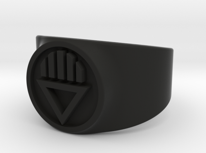 Black Death GL Ring (Sz's 5-15) 3d printed