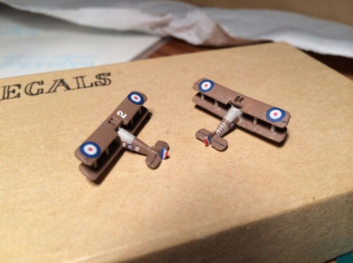 1/350 Sopwith Snipe 3d printed Models painted by Svend Ask Larsen