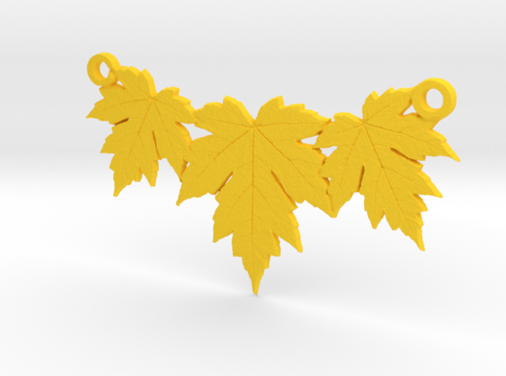 Maple Leaf Necklace 3d printed