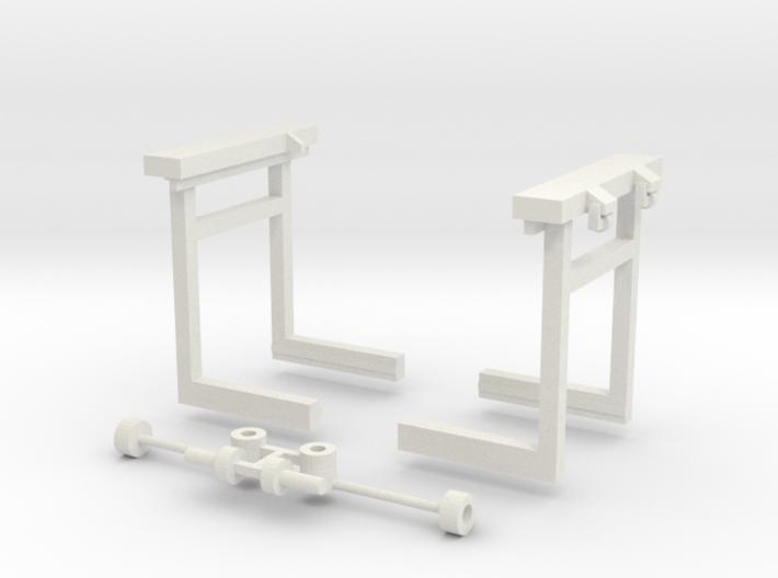 sl1 Brückenkran und Kupplung 3d printed