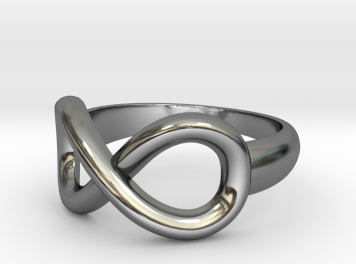 Infinity Ring-Size 7 3d printed