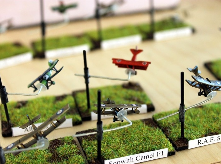 1/350 ICOG starter pack 3d printed Some of the models from the starter set, along with the Sopwith Camel by Kampffleiger
