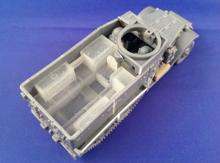 7201B • 3×M9A1 Half-track Body 3d printed Conversion used on Plastic Soldier Company M5 half-track kit