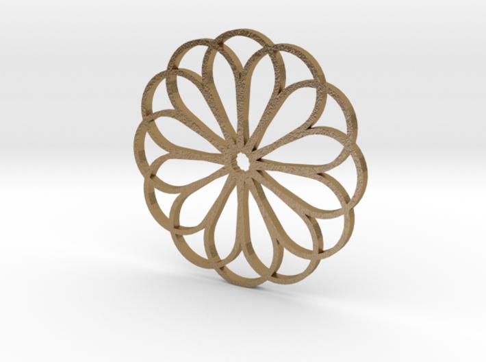 Moroccan Rose Pendant 3d printed