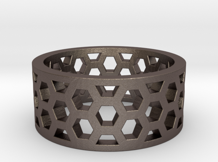 Hex Ring 3d printed