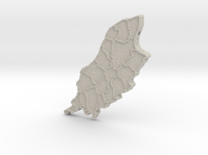 Isle of Man 3d printed
