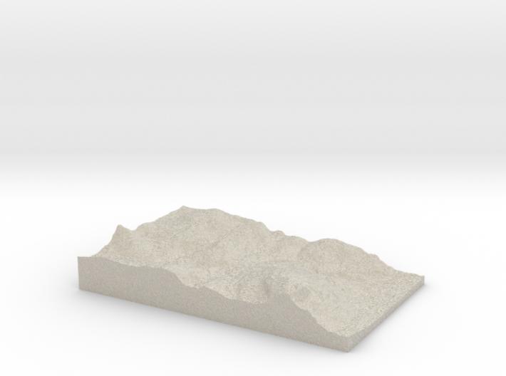 Model of Bakås 3d printed