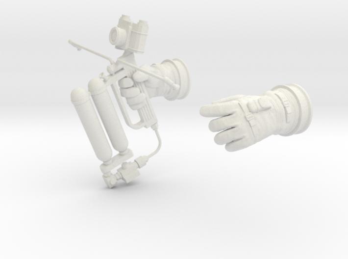 Gemini Astronaut EVA / 1:6 / Gloves, HHMMU 3d printed