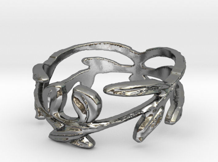 Branches3 Ring Size 8.5 3d printed