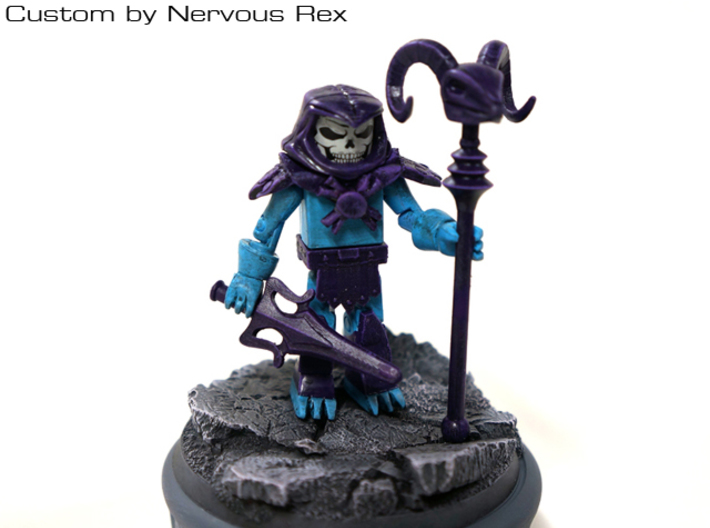 Skeletor's Havoc Staff scaled for Minimates 3d printed Custom by Nervous Rex
