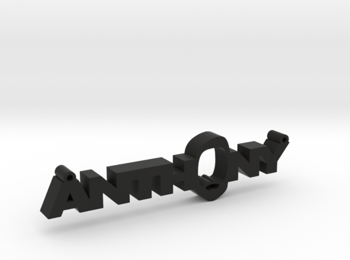 Anthony Nametag 3d printed