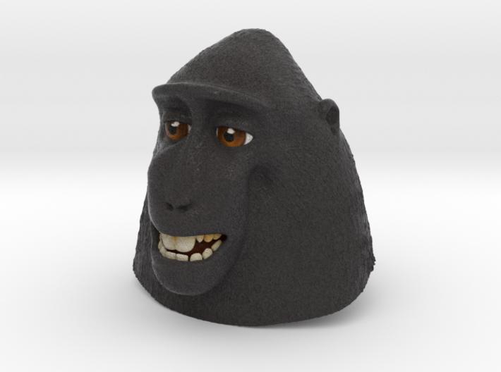 Macaque Selfie 3d printed