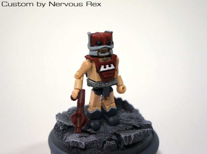 Zodac's gun scaled forLego 3d printed Custom Minimate by Nervous Rex