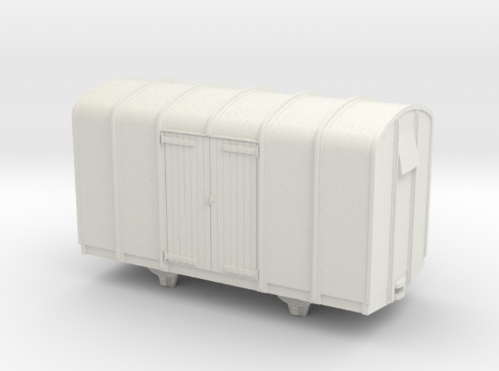 009 4 wheeled colonial van wood doors 3d printed