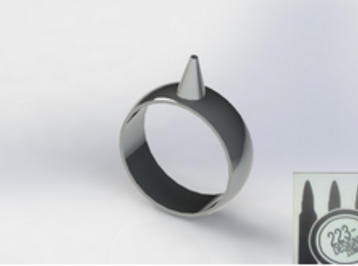 10.5 223-Designs Bullet Button Ring Size  3d printed
