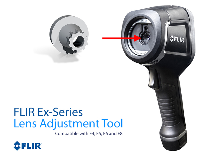 FLIR Ex-series Lens Adjustment Tool E4,E5,E6 & E8 3d printed