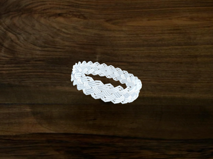 Turk's Head Knot Ring 4 Part X 23 Bight - Size 26. 3d printed