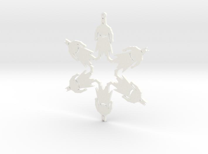 Snowflake Batman Ornament 3d printed