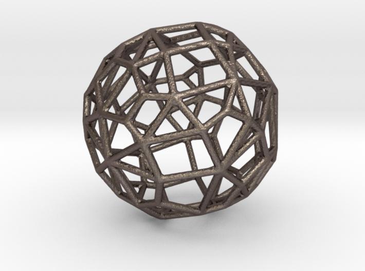 Irregular Wireframe Spherical Bead 3d printed