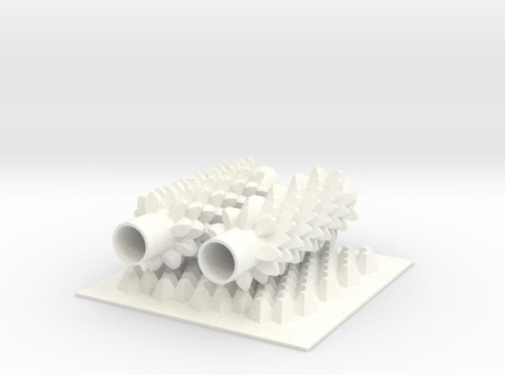 Corn Gears 3d printed
