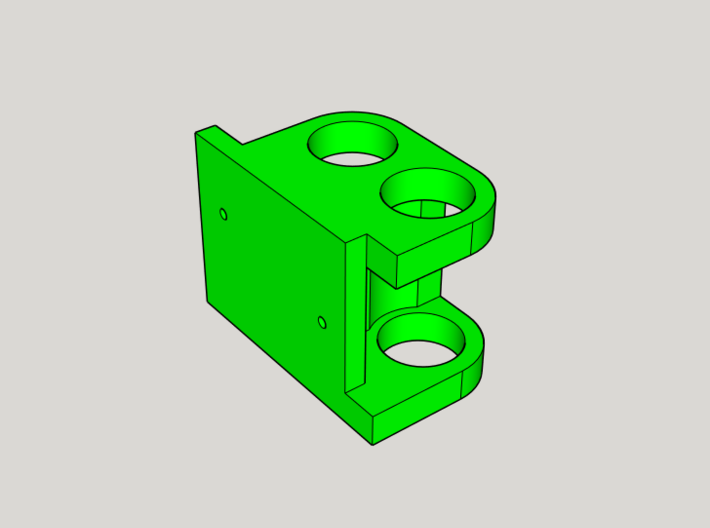 DJI F450 Low Profile Gimbal Mount 3d printed Isometric view of mount from 3D Design Software