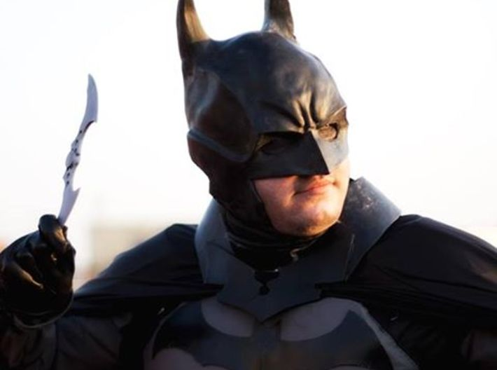Arkham Batarang 3d printed batarang in use with my batman cosplay