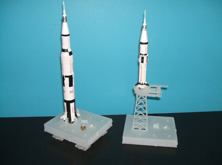 1/400 NASA LUT levels 0-2 (Launch Umbilical Tower) 3d printed A customers models of  unpainted launch pads, crawler & Milkstool.... time to finish the LUT now!