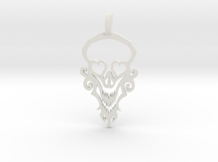 Happy Skull 3d printed