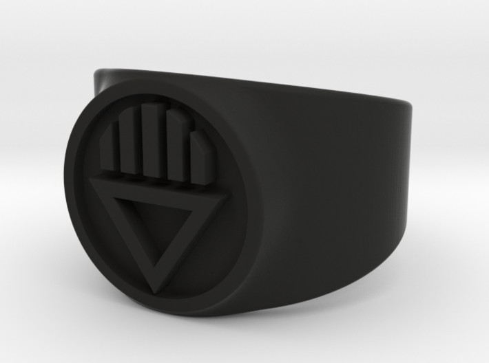 Black Death GL Ring Sz 9 3d printed
