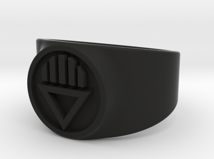 Black Death GL Ring Sz 13 3d printed