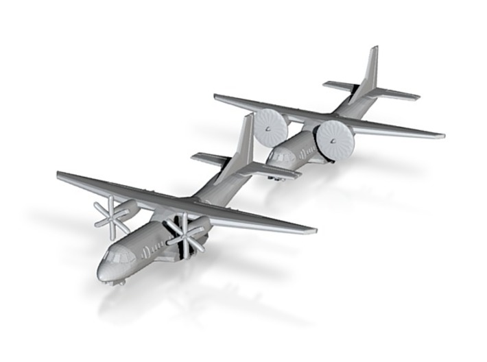 1/700 C-295 with Gear x2 (FUD) 3d printed showing disc propeller